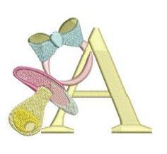 """Baby Pacifier Alpha"" releasing at ""Pixies Rule! Embroidery Monogram, Embroidery Designs, Alpha Letter, Baby Burp Cloths, My Little Girl, I Fall In Love, Machine Embroidery, Baby Gifts, Alphabet"