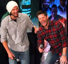 These two though  J2. DallasCon2015 - glad Jensen didn't really throw out his back!!