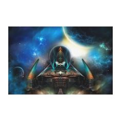 """Tamalin 5 Science Fiction Artwork Stretched Canvas Stretched Canvas Prints  57"""" by 37""""  $567.00 - http://www.zazzle.com/tamalin_5_science_fiction_artwork_stretched_canvas-192719322571483184"""