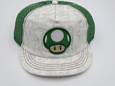 Nintendo Super Mario Mushroom White Youth Childrens Size Snapback Hat Cap  #Bioworld #BaseballCap  #Nintendo Super Mario Mushroom