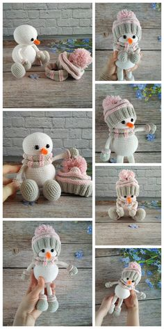 All free amigurumi crochet patterns and tutorials. Crochet Christmas Decorations, Christmas Crochet Patterns, Christmas Knitting, Crochet Patterns Amigurumi, Crochet Dolls, Crochet Angels, Blog Crochet, Crochet Gifts, Crochet Winter