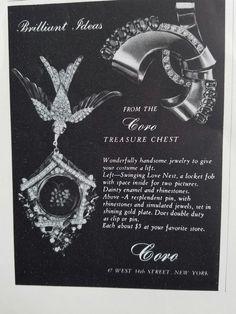 1946 JAY KEL windmill jewelry pin brooch the golden mill vintage ad