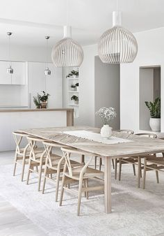 Modern Farmhouse Dining Room Decor Ideas – Best Home Decorating Ideas - Page 26 Dining Room Design, Dining Room Furniture, Beach Dining Room, Design Kitchen, Kitchen Colors, Room Chairs, Bright Homes, Dining Room Inspiration, Interior Inspiration