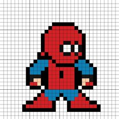 Spider-Man Homemade Suit Spider-Man Homecoming Perler Bead Pattern
