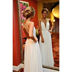 Gold Lace Charming Custom Made Prom Dresses, Floor-Length Evening Dresses,Prom Dresses,ST270
