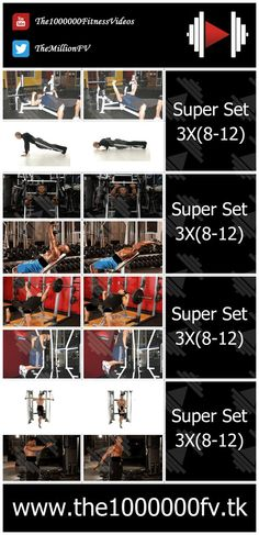 Superset Chest Workout for mass gain at gym Chest Workout For Mass, Chest Workout Routine, Chest Workouts, Gym Workouts, Bodybuilding Training, Bodybuilding Fitness, Bodybuilding For Beginners, Muscle Bodybuilder, Muscle Building Tips