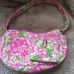 "Vera Bradley Petal PinkBundle Gently used ""Frannie"" style bag and small wallet9""x5""  Strap Drop is 7"" Vera Bradley Bags Shoulder Bags"