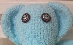 Sold/ Custom Order  Blue Sock Elephant by scooterandgoose on Etsy, $25.00