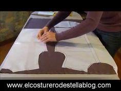 El costurero de Stella-Trazo y corte del basico de la blusa. - YouTube