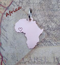 Africa necklace with heart in Ghana ❤️ when I get back from Africa!