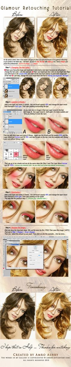 Glamour Retouching Tutorial by ~Amro0 on deviantART