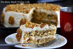 Pro-biotic Maple Walnut Cake | Eggless Cooking