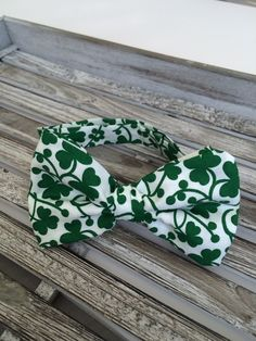 St. Patrick's Day Shamrock Baby and Toddler Boys Bow Tie by LuluandDru on Etsy
