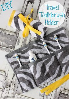 DIY Travel Toothbrush Holder
