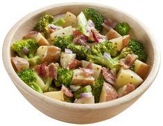 Broccoli, Potato and Bacon Salad-Hidden Valley Broccoli Slaw Recipes, Salad Recipes, Ranch Salad Dressing, Warm Salad, Bacon Salad, Side Recipes, Cooking Recipes, Favorite Recipes, Ethnic Recipes
