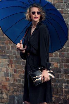 silk trench zimmermann | boyy clutch | Zanita Morgan