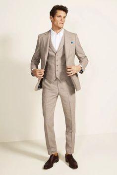 Tailored Fit Green Linen Suit Groom Suit Tweed, Mens Tweed Suit, Tweed Suits, Tweed Jacket, Mens Suits, Karim Rashid, Moss Bros, Herringbone Jacket, Linen Suit