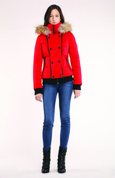 Soïa & Kyo Bomber Maureen in red Cute Winter Coats, Winter Jackets, Stylish Coat, Winter Dresses, Red, Collection, Design, Fashion, Suit
