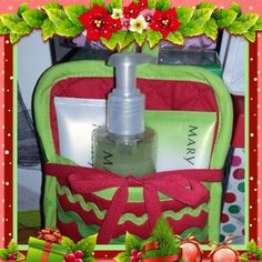 Satin Hands wrapped in pot holder is a good gift! Marykay.com/msmeka