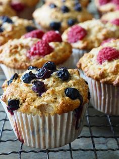 Sunnere muffins med bær