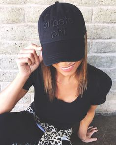 Black on Black hat | Pi Beta Phi | 224 Apparel