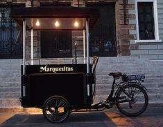 Marquesitas vending bike on Behance My Coffee Shop, Coffee Shop Design, Bicycle Cart, Mobile Coffee Shop, Mobile Food Cart, Food Cart Design, Bike Food, Mobile Cafe, Food Truck Business