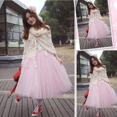 New Fashion New Women Fashion Princess Fairy Style 2 Layers Tulle Dress Bouffant Skirt 4 Colors