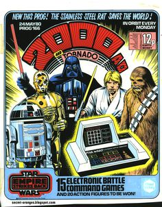 May the fourth be with you courtesy of Abc Warriors, Han Shot First, 2000ad, Sci Fi Comics, Star Wars Merchandise, Original Trilogy, Star Lord, Fantasy Books, Geek Culture
