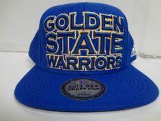 Golden State Warriors Cap Flat Brim Adidas Snapback Hat Authentic Draft Day 2013 #adidas #GoldenStateWarriors