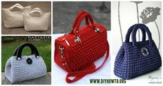 Crochet Handbag Free Patterns & Instructions: Crochet Tote Bags, Crochet Handbags, Crochet Bags, Crochet Purses Collection
