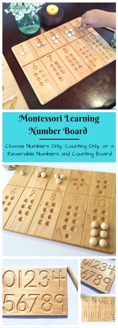 My son is just getting into counting at preschool, this would be perfect to help him learn! #montessori #ad #kids #learning