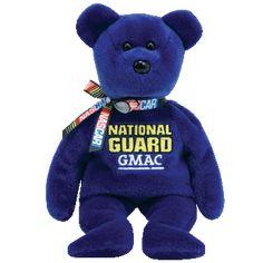 Ty Beanie Babies Nascar National Guard GMAC Casey Mears #25