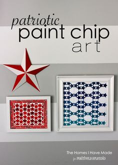 Patriotic Paint Chip Wall Art