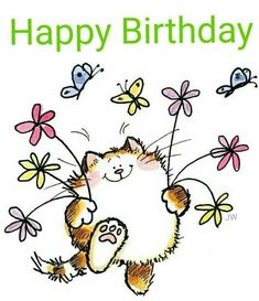 New Snap Shots Birthday Flowers card Tips If you are seeking any polite plus entertaining birthday gift for a buddy or spouse, it's hard to Free Happy Birthday Cards, Happy Birthday Art, Happy Birthday Pictures, Happy Birthday Greeting Card, Happy Birthday Messages, Birthday Quotes, Cat Birthday, Birthday Bash, Gift Flowers