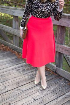 J.Crew Watermelon Knit Skirt