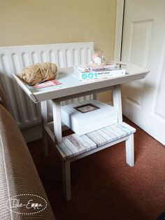 Turning an Ikea stepladder into a table
