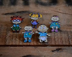 Cartoon Rugrats Enamel Lapel Pin Set Complete Retro Vintage Nickelodeon