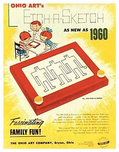 Etch-A-Sketch Vintage Ad. Who would have thought Etch-A-Sketch would become political? My Childhood Memories, Childhood Toys, Sweet Memories, 1970s Childhood, Photo Vintage, Vintage Ads, Vintage Advertisements, Vintage Stuff, Vintage Photos