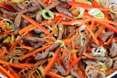 Vita cu legume stir-fry - CAIETUL CU RETETE Stir Fry, Carrots, Fries, Vegetables, Food, Essen, Carrot, Vegetable Recipes, Meals