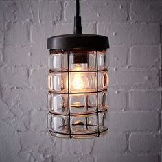 Gridded Glass Pendant #westelm