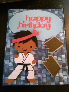 Cricut create a friend karate birthday card