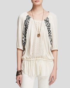NEW Free People New World Jersey Butterfly Ivory Printed Tunic Top Women's XS #FreePeople #Tunic