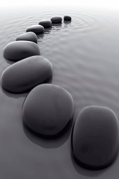 If you love yoga, you have to try this. Zen Yoga broken down in a digital magazine. Land Art, Wallpaper Stores, Black Pebbles, Black Stones, Sticks And Stones, Foto Art, Black N White, Black Rock, Happy Colors