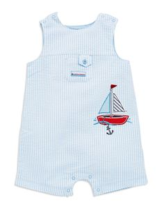 Kids'   Newborn Boys 0-9 Months   Baby Boys Striped Woven Sun Suit   Lord and Taylor
