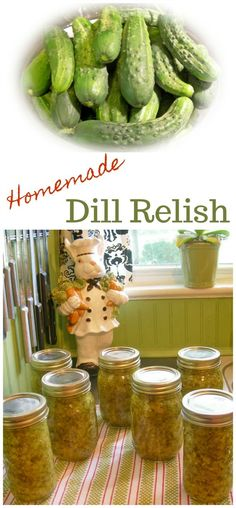 Once you make this homemade dill relish, you'll never go back to store bought! Homemade dill relish the perfect condiment. Relish Recipes, Canning Recipes, Canning Tips, Fun Recipes, Family Recipes, Salad Recipes, High Carb Foods, No Carb Diets, Low Carb