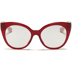 2d5becfdcc22 Miu Miu Rhinestone pavé temple acetate cat eye sunglasses ( 285) ❤ liked on  Polyvore