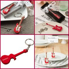 Guitar Party Favors for Music Event from HotRef.com #guitar #guitarlover #musicevent