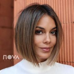 Perfect Bob Hairstyles With Highlights ❤️ Ar. Hairstyles, Perfect Bob Hairstyles With Highlights ❤️ Are you curious to find out creative ideas of exquisite blunt bob hairst. Blunt Bob Hairstyles, Short Bob Haircuts, Trending Hairstyles, Hairstyles Haircuts, Haircut Bob, Stylish Hairstyles, Brown Bob Haircut, Office Hairstyles, Anime Hairstyles