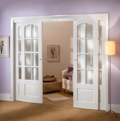 Interior French Sliding Doors - French doors are some of the doors that are most popular to use in a home nowadays mostly f Interior Sliding French Doors, Sliding Door Design, Sliding Room Dividers, Glass French Doors, Interior Barn Doors, Exterior Doors, Interior Design, Interior French Doors, Interior Ideas