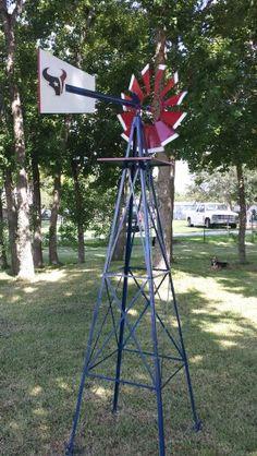 18 foot Made in USA Aluminum Garden windmill. 18' tall (around the
